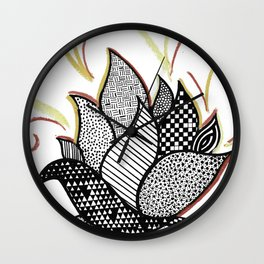Patterned Fire Wall Clock