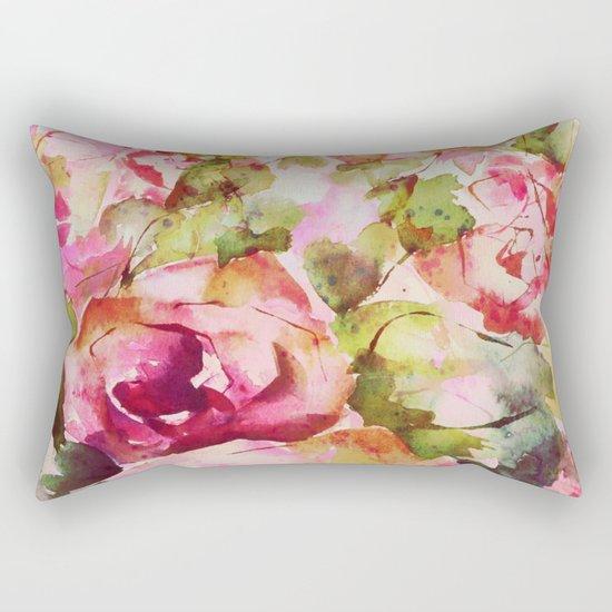 roses abstraites Rectangular Pillow