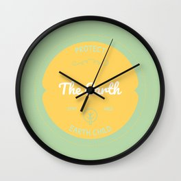 Protect the Earth (2) Wall Clock