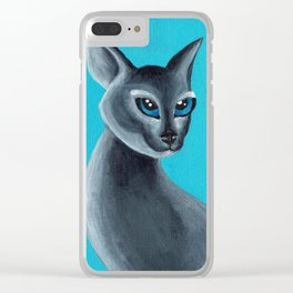 Big Blue Eyes Clear iPhone Case
