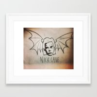 nick cave Framed Art Prints featuring NICK CAVE by Kazimir Simpson