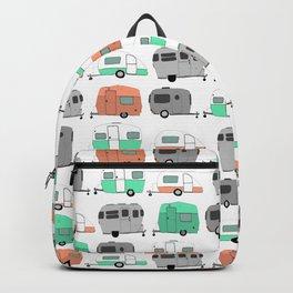 Vintage caravan pattern Backpack