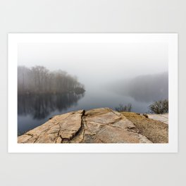 Foggy reflections Art Print