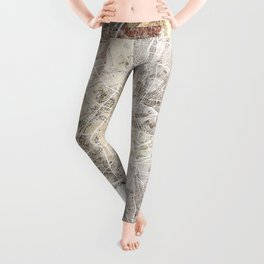 Athens map Leggings