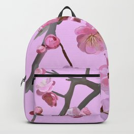 painted plum blossom rose Backpack