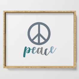 Peace- The symbol of peace Serving Tray