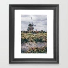 Kinderdijk Windmill Framed Art Print