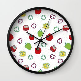 Bell fruit seamless pattern Wall Clock