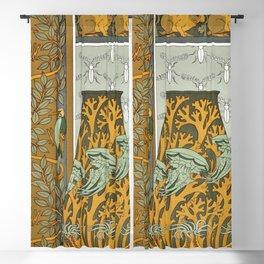 Maurice Pillard Verneuil - Piverts et arbre, bordure verticale Blackout Curtain