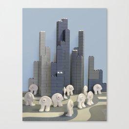 Un jour j'irai à New-York avec toi Canvas Print