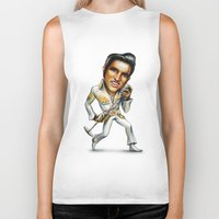 elvis presley Biker Tanks featuring Elvis Presley by sergo