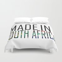 south africa Duvet Covers featuring Made In South Africa by VirgoSpice