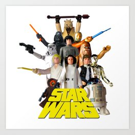 Star War Action Figures Poster - First 12 - Square Art Print