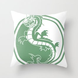 Geek Cute Anime Dragon  Throw Pillow