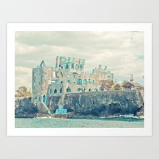 blue coral castle Art Print