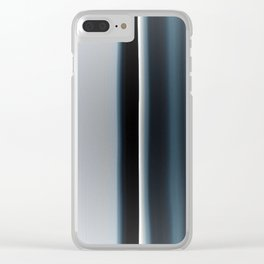 Vertical Blue and White Stripes Clear iPhone Case