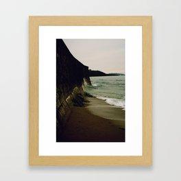 Gylly Beach - Curves Framed Art Print