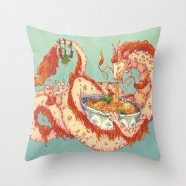 NOODLE DRAGON Throw Pillow
