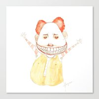 mac Canvas Prints featuring Freakin Mac by happiestfung