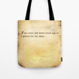 Four Score (Star Wars) Parchment Tote Bag