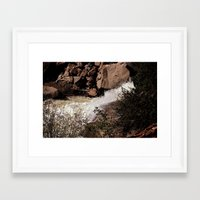 rush Framed Art Prints featuring Rush by Theresa O'Neill