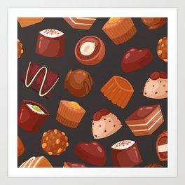 chocolate pattern Art Print
