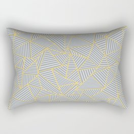 Ab Outline Gold and Grey Rectangular Pillow