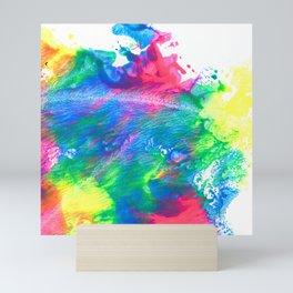 Rainbow Paint Splatter V3 Mini Art Print