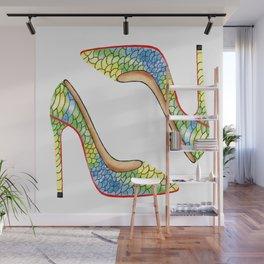 Beautiful leather high heels Wall Mural