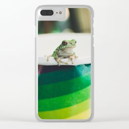 Frog of Many Colors Clear iPhone Case