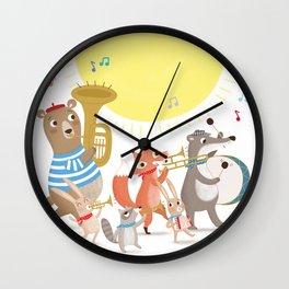 Children's Nursery Music Animal Band Wall Clock