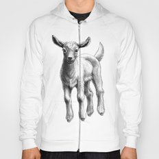White Goat Baby SK133 Hoody