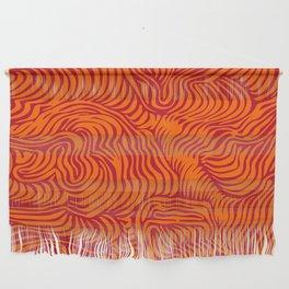 orange red flow Wall Hanging