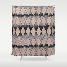 Geometric Diamond Glam #1 #geo #decor #art #society6 Shower Curtain