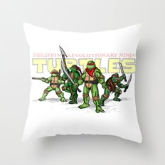 Philippine Revolutionary Ninja Turtles Throw Pillow