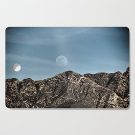 Moon over the Franklin Mountains Cutting Board