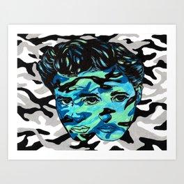 Marlon Brando: Double Vision Art Print
