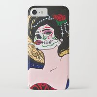 day of the dead iPhone & iPod Cases featuring Day of the Dead by J. Nicole