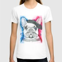 frenchie T-shirts featuring Frenchie by Irasema Langarica