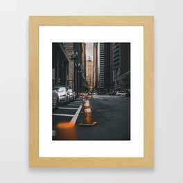 LaSalle Street - Art Print Framed Art Print