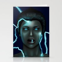lightning Stationery Cards featuring Lightning by Egberto Fuentes