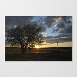 Sunset around the block from home Canvas Print