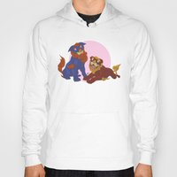 pit bull Hoodies featuring Pit Bull Shisa Guardians by AlliePets