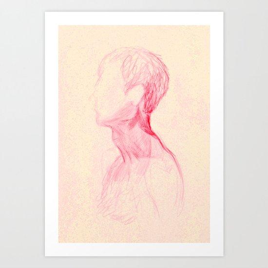 Neck Study I Art Print