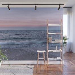Pastel beach sunset Wall Mural