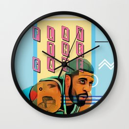 PLAY THE GAME Wall Clock