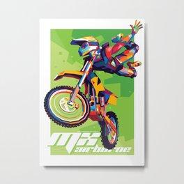 MX Airborne Motocross Stunt Fly Metal Print