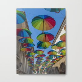 Festive Mood in the Old Town Metal Print