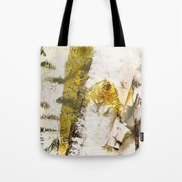 Rustic Gold Knot Close-Up Birch Tote Bag