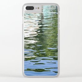 Colorful Reflections Abstract Clear iPhone Case
